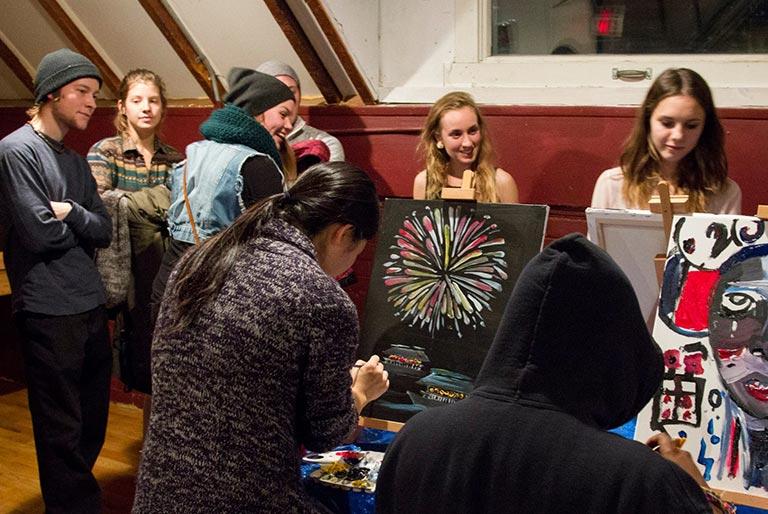 Art is Activism event at Sadleir House, Peterborough, Ontario